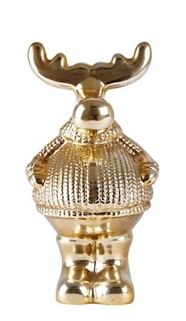 Figur Ren Keramik Guld 20 cm