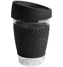 Glasskrus med silikon svart