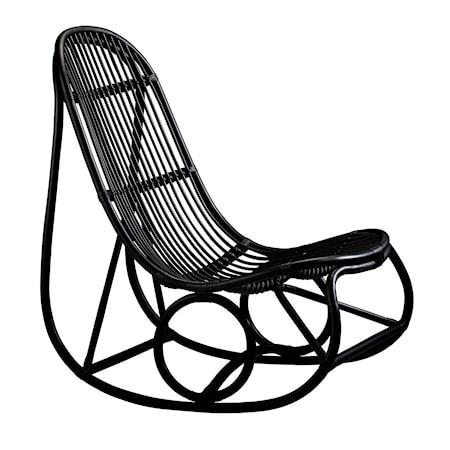 Sika Design Nanny gungstol - Matt svart