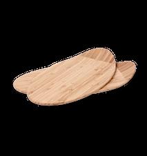 Bricka, 2 st., oval, bambu