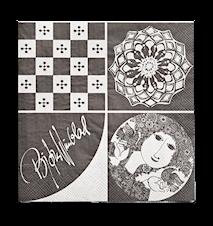 Pappersservett, mörkgrå, 40x40 cm