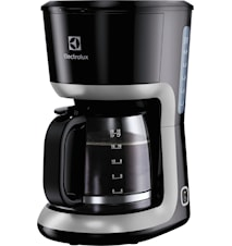 Kaffebrygger 12 Koppar Sort/Sølv