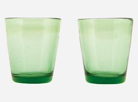 Glas Houston Grön Ø 8 Höjd 9 cm