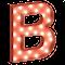 Cirkuslampan Liten - B - Röd