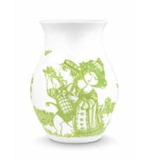 Vas, Rosegarden, grön, H 18 cm