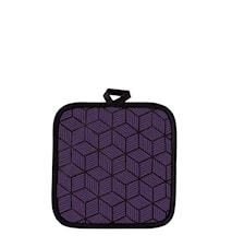 Grytlapp Polyester/Bomull Lila 20x20 cm