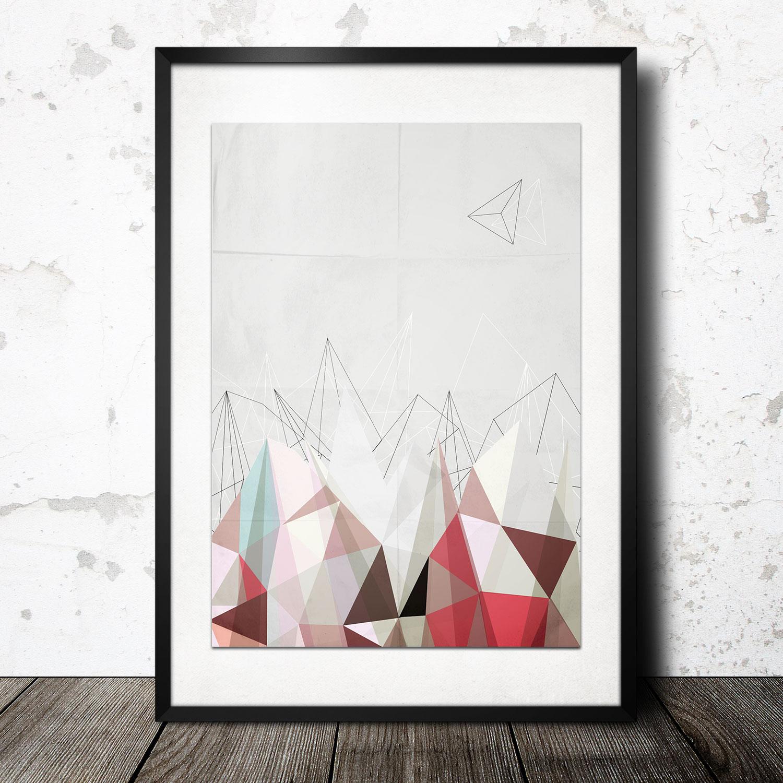 geometry peaks light poster