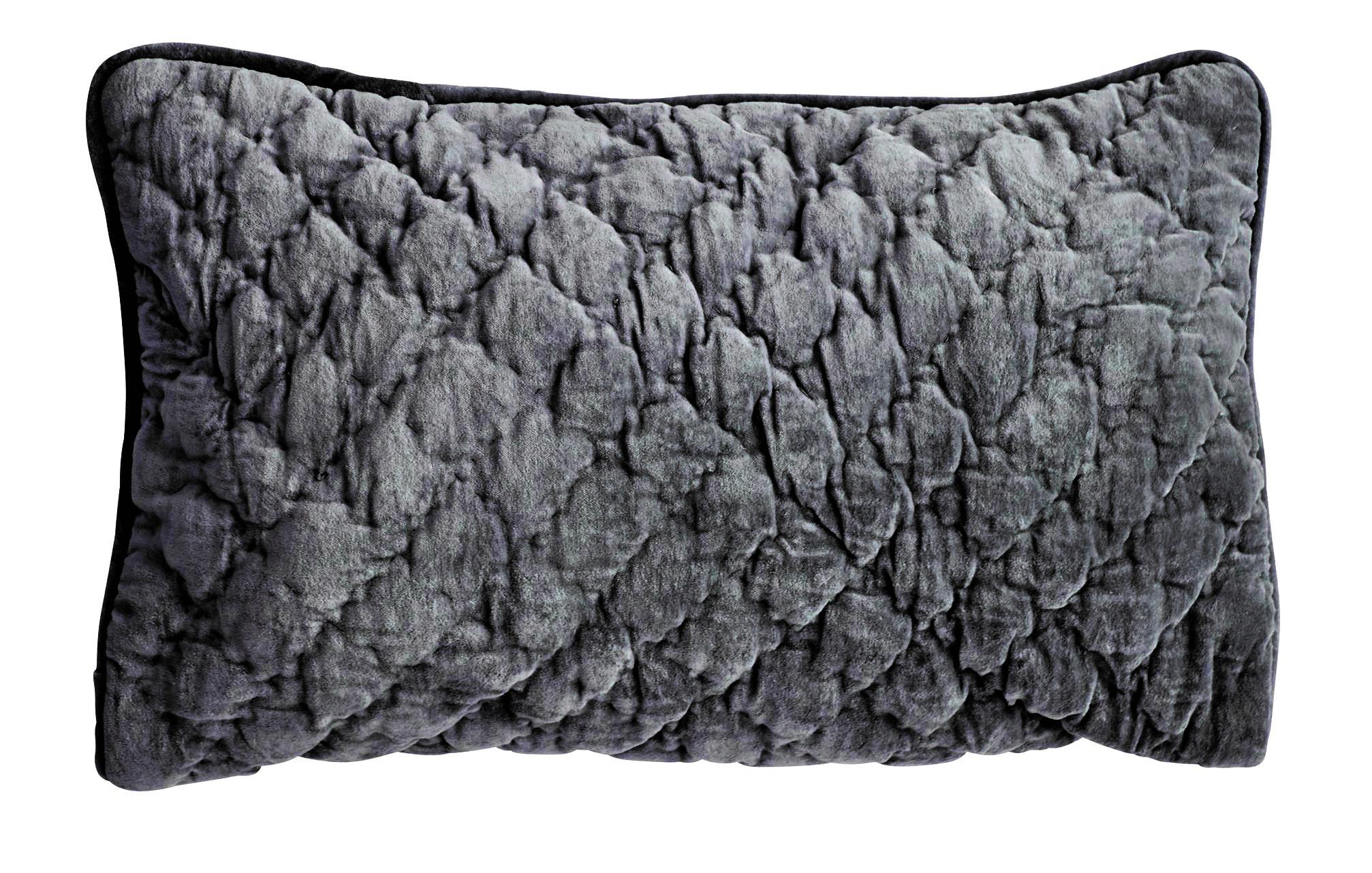 Velvet Quilted Kuddfodral 40x60 - Unblack