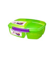 Lunch 2016 2L Triple Split Lunch Box with Yogurt Pot