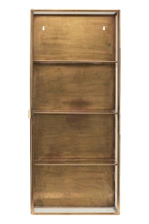 Kabinett 80x35x15 cm Glas/mässing