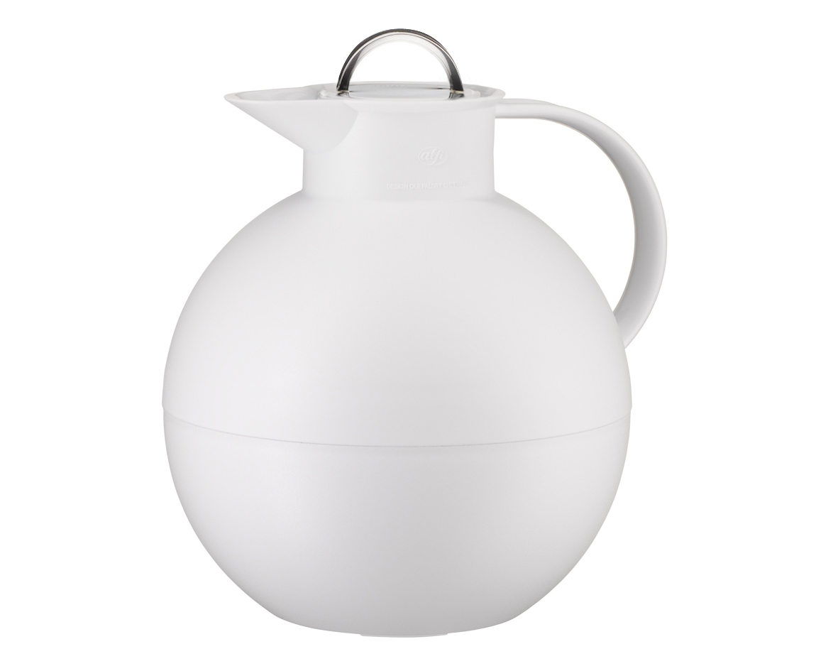 Kulan termoskanna frostad vit/blank stål 0,94 liter