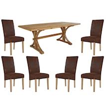 Provence Spisegruppe inkl. 6 stk Provence stoler