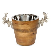 Huntsmen Stag Head Wooden Wine Cooler