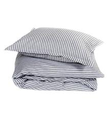 Classic stripe påslakan – Grey