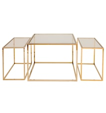 Three Set Table brass