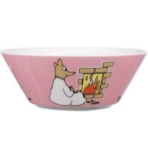 Mumin skål 15 cm Sås-djuret rosa