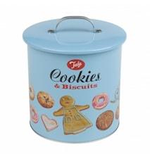 Kakburk Biscuit Barrell Blå