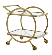 Clear glass round trolley drinkvagn