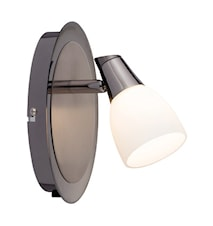 Halden Vägglampa 1 Ljus Svart/Krom