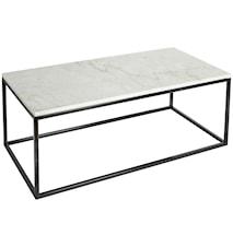 Soffbord Vit marmor/Svart 120x60x45 cm