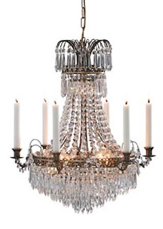 Bild av Markslöjd Läckö Taklampa 7 Ljus Antik