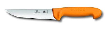 Slaktkniv, 16 cm, Swibo, gult handtag