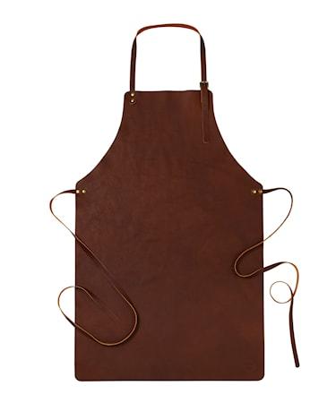 Forklæde Premium Brun læder
