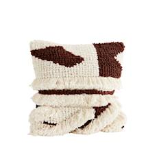 Kuddfodral 50x50 cm - Offwhite/rubinröd