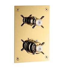 BOX268 Termostatblandare Classic Mässing