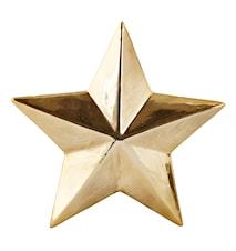 Figur Stjärna Guld 17x17 cm