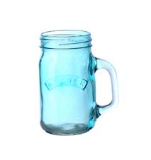 Glasskrukke med håndtak Blå KILNER