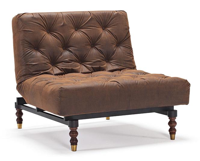 Oldschool Fåtölj - Vintage brown leather look