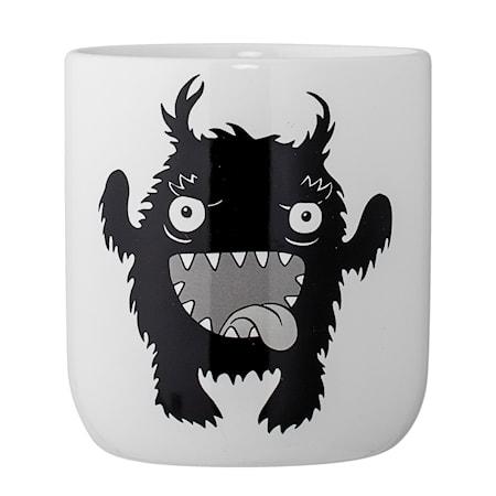 Bild av Bloomingville Monster Kruka Vit Keramik 10x11cm