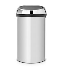 Touch Bin®, 60 Ltr / Brilliant Steel lokk Metallic Grey