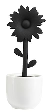 Zone Denmark Teesiivilä pidikkeellä Silikoni Musta 12,5 cm