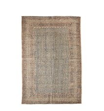 Hand woven wool jute printed teppe