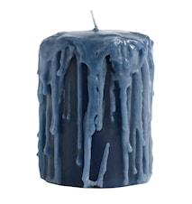 Blokklys Ø 8x10cm - Blå