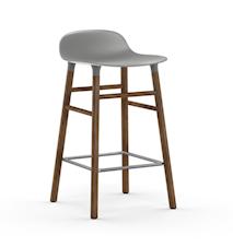 Form Barstol Grå/Valnød 65 cm