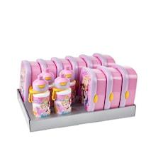 Matlådsset inkl. vattenflaskor Prinsessa 13-delar