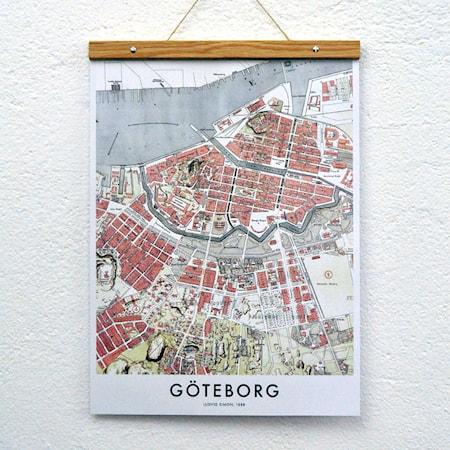 Bild av Owl streets Göteborg map poster no 2