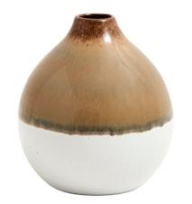 Vase Nature rund 11 cm - Brun