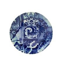Lisboa tallrik flat, blå kakel