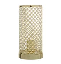 Bordlampe Metal Ø 13 cm - Guld