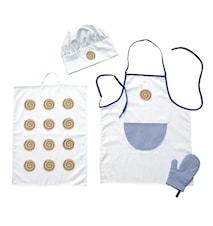 Kockkläder Barn Blå