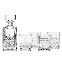 Highland Whiskeykaraff och 4 st glas
