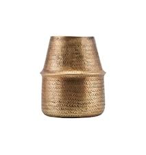 Krukke Rattan Brass 19 cm