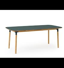 Form Bord Grønn/Eik 95x200 cm