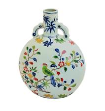 Flaska, 28 cm, blommor och fåglar, Ming dynastin