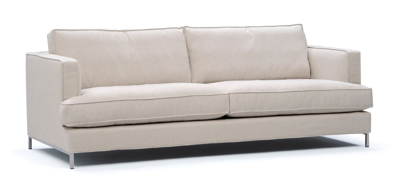 Villa 2,5-sits soffa – Metallben
