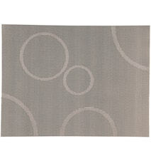 Tablett Silver/Cirklar 40x30 cm